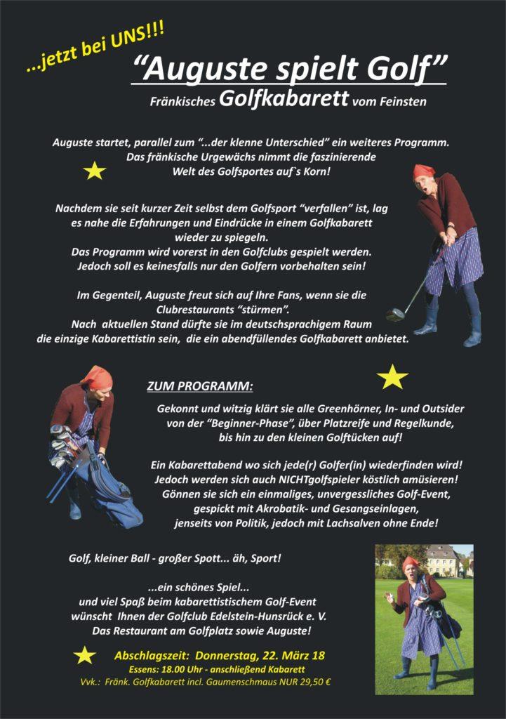 """Fränkisches Golfkabarett """"Auguste spielt Golf"""""""