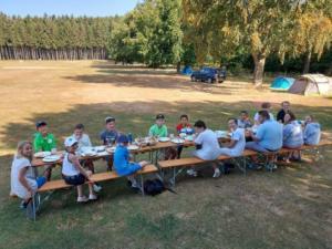 Jugendtraining und Jugendcamp 2020 mit Jugendwart Joachim, Trainer Christian und Praxianleitern Charlotte, Joshua und Rene